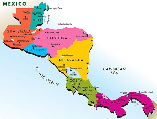 Center America Map Central America   Lessons   Tes Teach