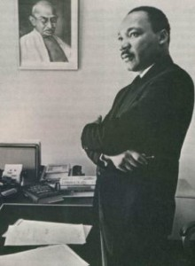Dr. King in Atlanta SCLC office, 1966. © Bob Fitch.
