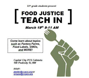 Food Justice Teach-In Flier
