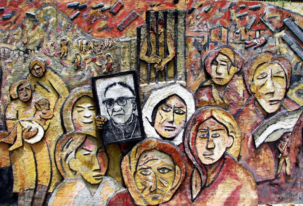 Archbishop Romero remembered in mural.