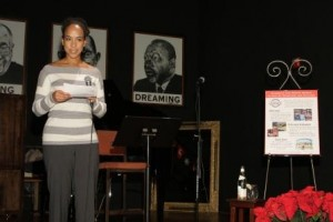 Teaching for Change fundraiser with poet and activist Sonia Sanchez at Busboys and Poets Washington DC Dec. 10, 2007 ©  Rick Reinhard  2007