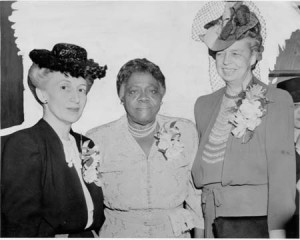 Lillian Smith, Mary McLeod Bethune, and Eleanor Roosevelt. (Source and date unknown, please provide if you have info.)