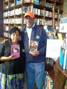 Book drive supporters.