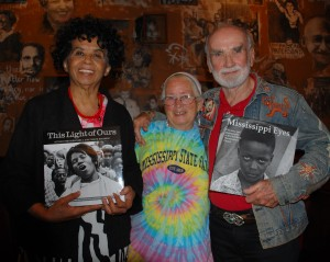 Dorie Ladner, Joan T. Mulholland, and Matt Herron. Photo by Ron Carver.