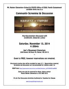 Screening flyer 11.15.14