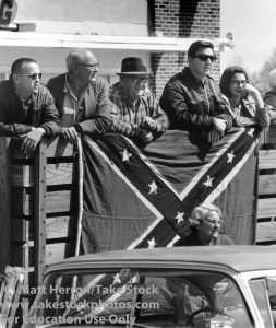 Local residents watch Selma-to-Montgomery March. By Matt Herron/Take Stock.