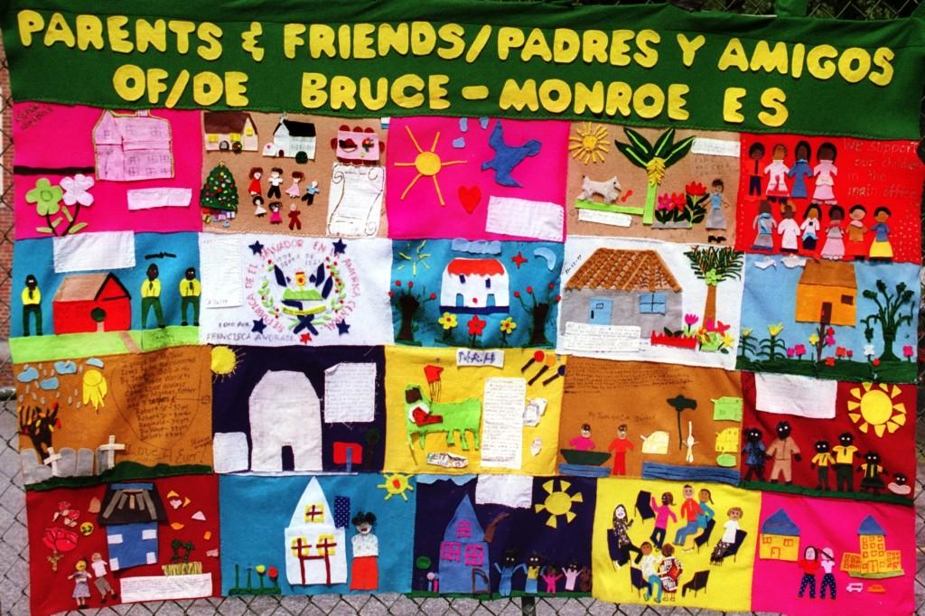 Bruce Monroe Elementary School quilt #020624-2-1 (c) Rick Reinhard 2002