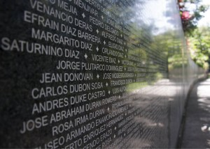 The Monument to Truth and Memory shares over 28,000 names of people who were killed or disappeared during El Salvador's civil war. By Jeff Peak.