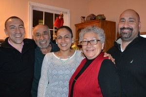 Dr. Palacios with her husband and children.
