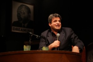 "Dave Zirin at ""Not Just a Game"" fundraiser for Teaching for Change. © Rick Reinhard, 12/13/2010"