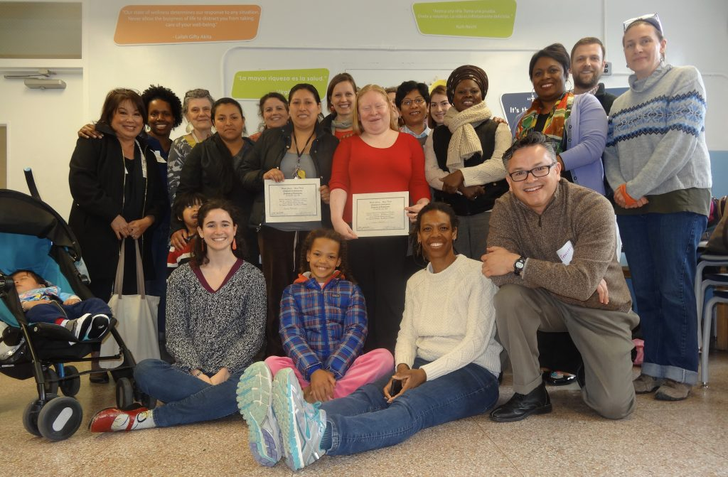 Bruce-Monroe Elementary at Park View (DCPS) parents, along with Teaching for Change staff and visiting AERA researchers, after sharing stories of parent leadership as part of a pre-conference workshop at AERA 2016.