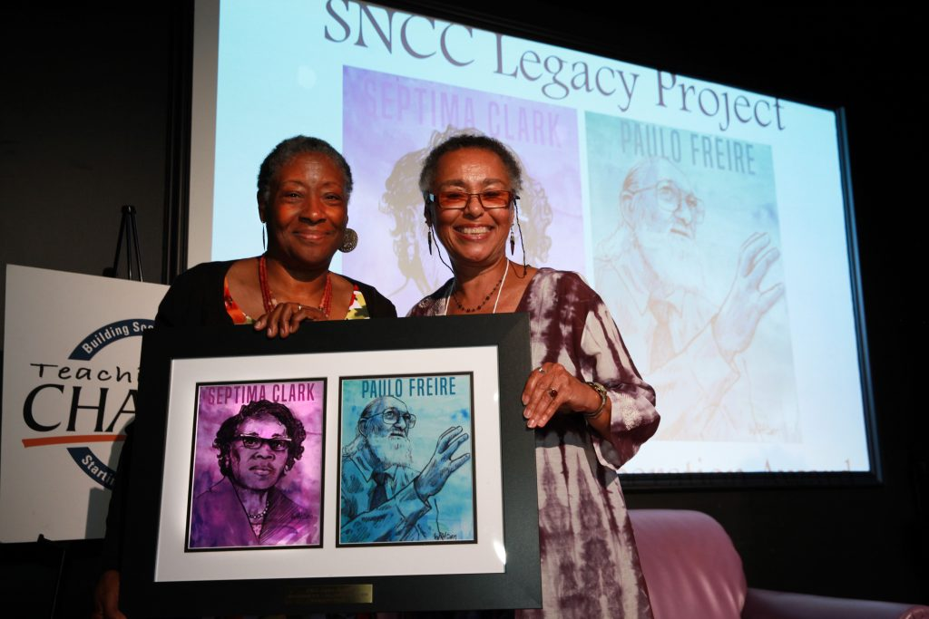 "Martia Golden presented the SNCC Legacy project with the ""Education for Liberation Award."" It was accepted by Judy Richardson © Rick Reinhard 2016 email rick@rickreinhard.com"