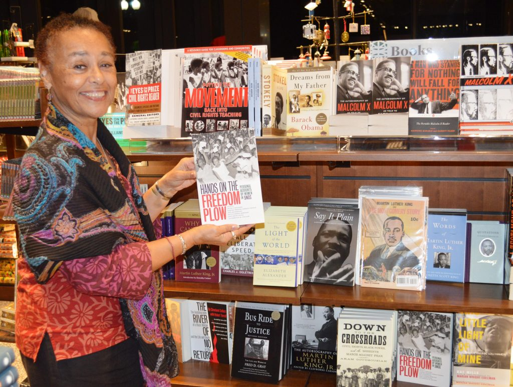 "The NMAAHC bookstore features many wonderful titles include ""Hands on the Freedom Plow"" (held by co-editor Judy Richardson and the Teaching for Change title, ""Putting the Movement Back into Civil Rights Teaching."
