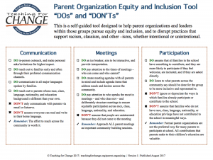 How Parents Widenor Shrinkacademic Gaps >> Equity In Parent Organizations Teaching For Change Teaching For