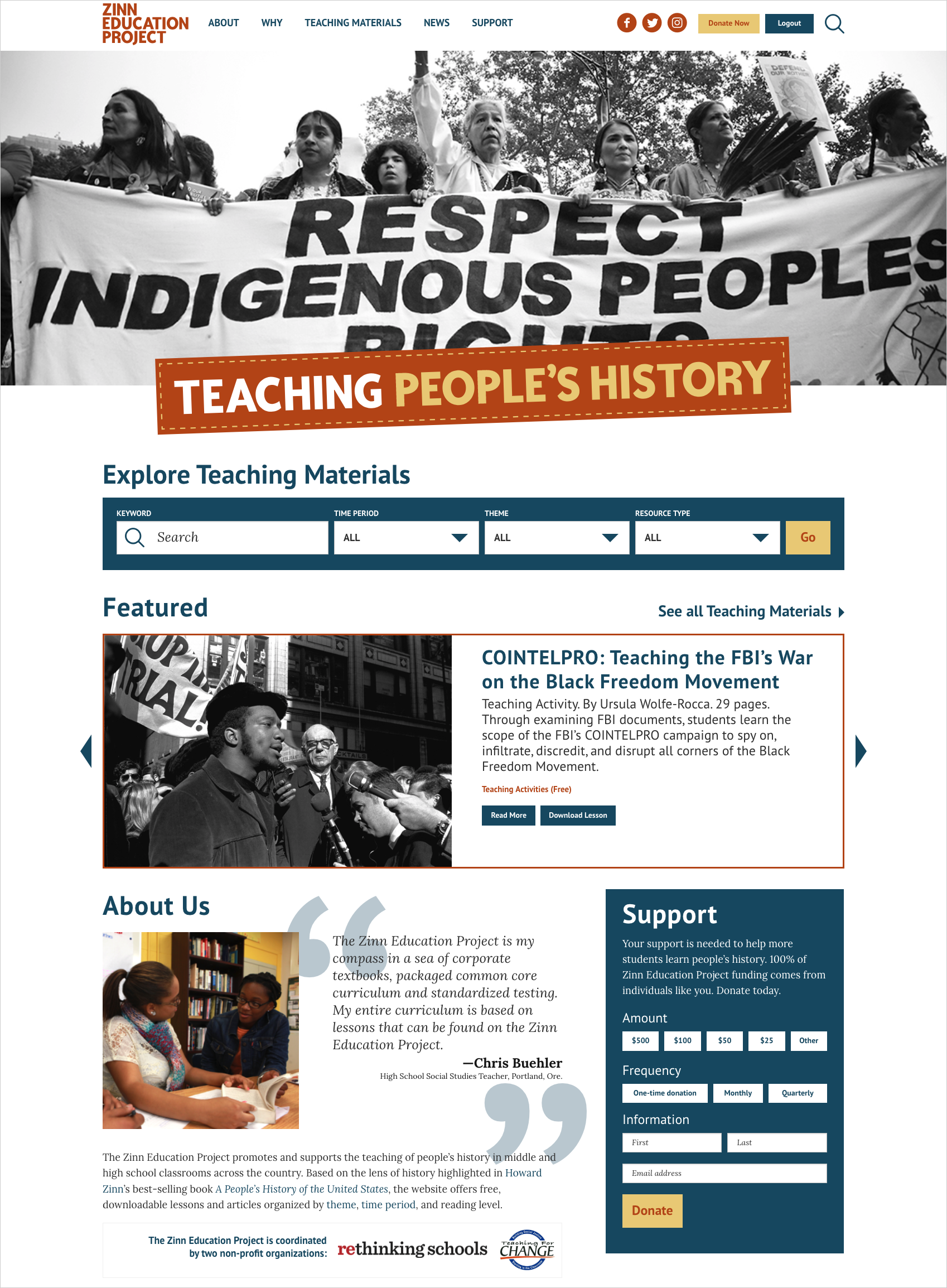 The Zinn Education Project promotes and supports the use of A People s  History of the United States and other people s history materials in middle  and high ... 85761e63403c3