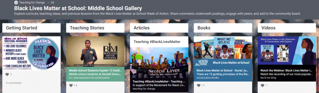 BLM Middle School Gallery